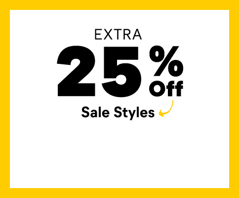 Extra 25% Off sale styles.