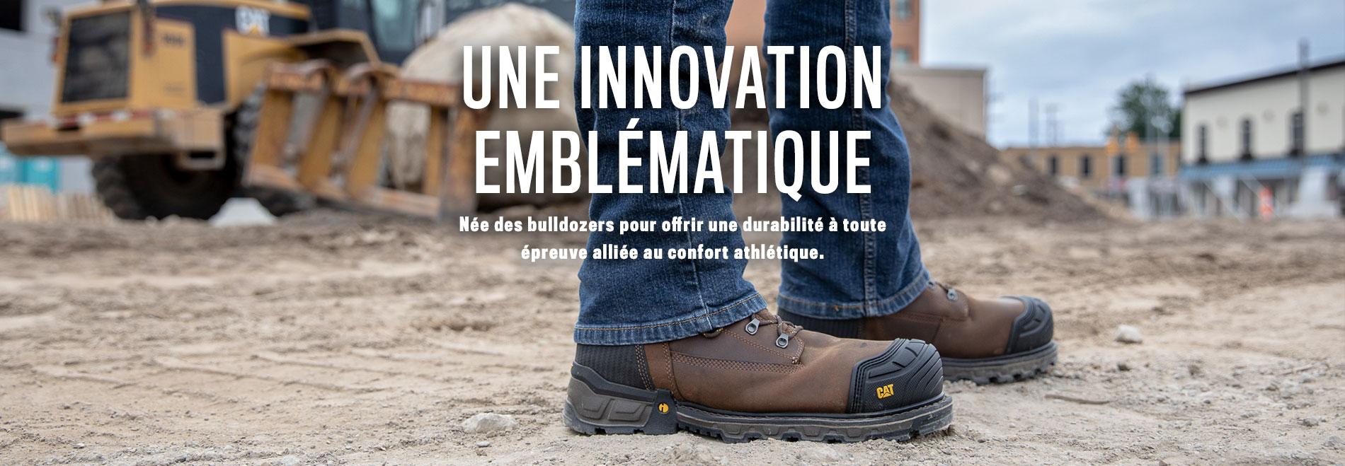 Une innovation emblématique | Née des bulldozers pour offrir une durabilité à toute épreuve alliée au confort athlétique.