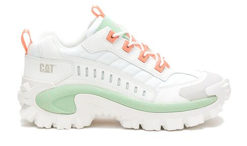 White | Pastel Green