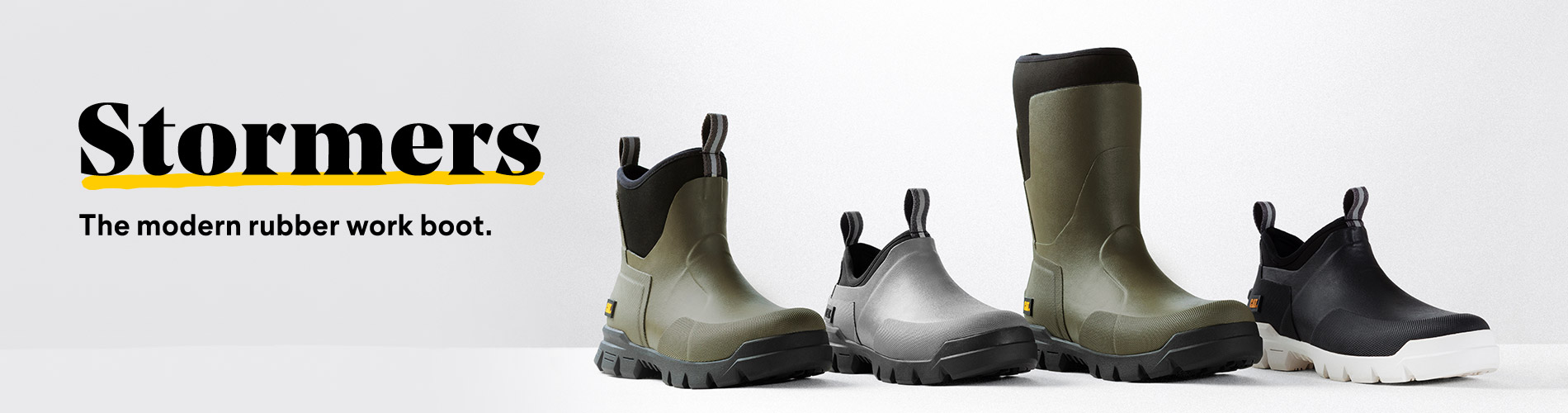 Stormers The modern rubber work boot.