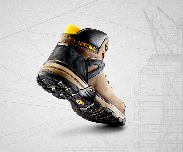 Looking from behind at the sole of the Excavator Superlite