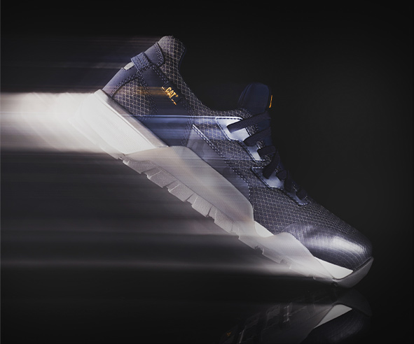 A Sprint Collection shoe flying to the right with a motion blur trail.