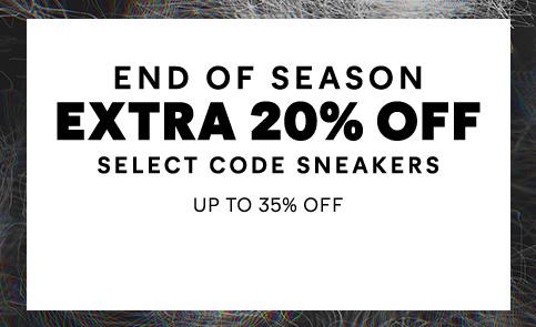 End of Season Extra 20% OFF. Select code sneakers CAT Footwear Sale