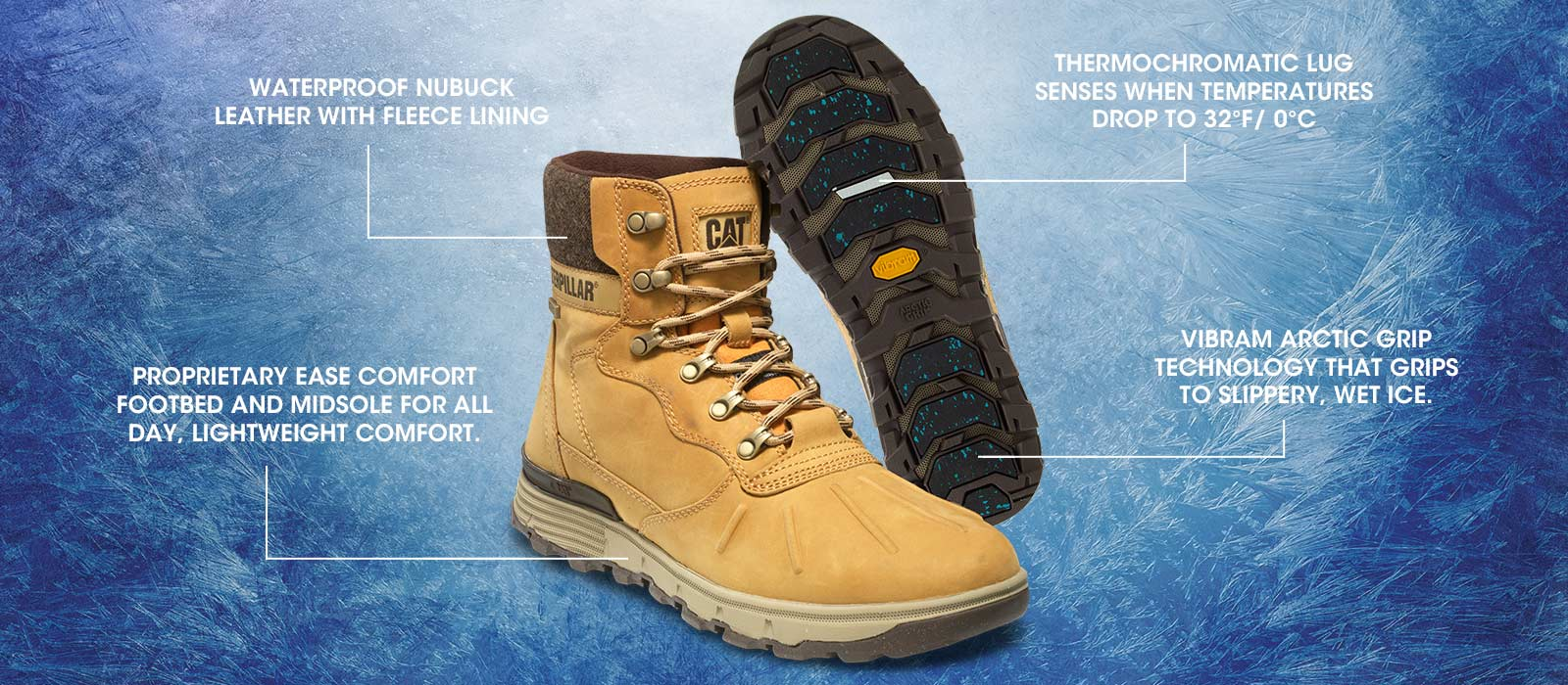 caterpillar shoes arctic grip technology