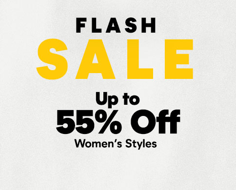 Flash Sale, up to 55% Off women's styles.