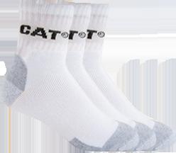 CAT All Season Work Quarter Sock 3-Pack