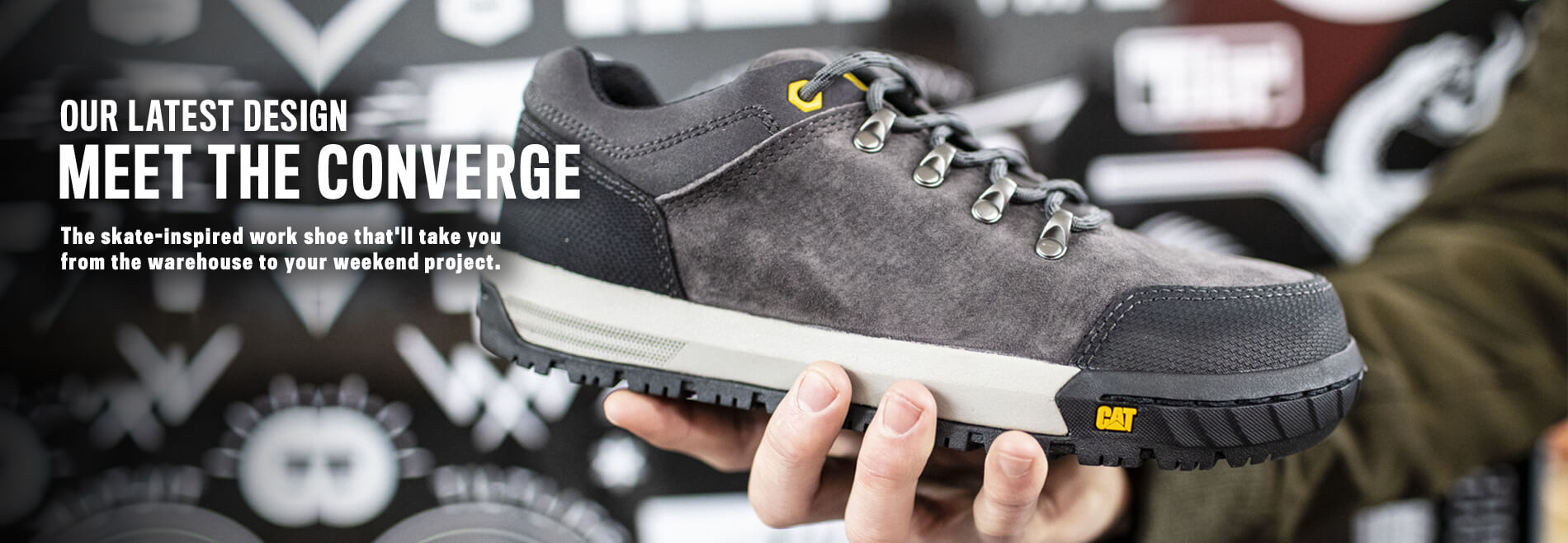Our latest design | Meet The Converge | The skate-inspired work shoe that'll take you from the warehouse to your weekend project.