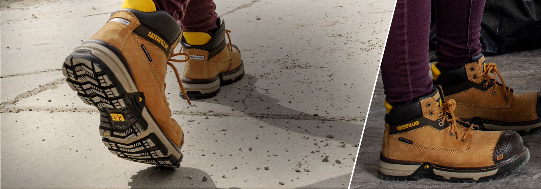 Women walking job sites wearing Cat superlites.